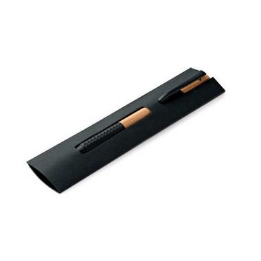 Bolígrafo Bambú. Clip de metal