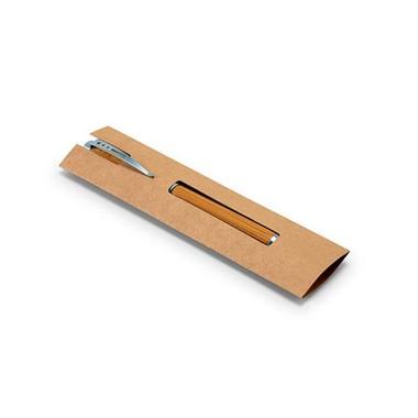 Bolígrafo de bambú, clip de metal
