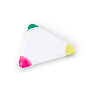 Rotulador fluorescente triangular de 3 colores