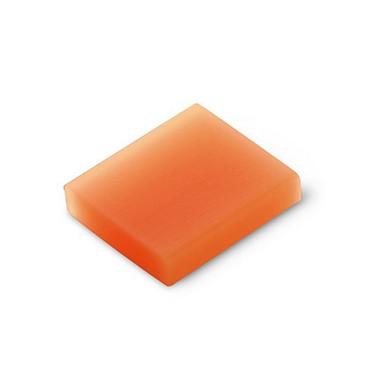 Goma de borrar en 3 colores translúcido.