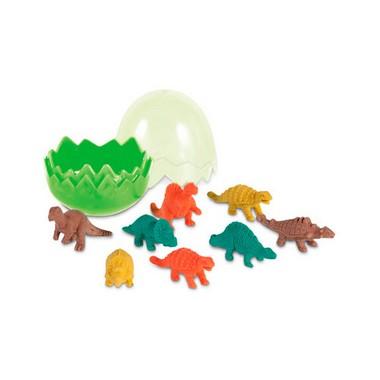 Set Huevo con 8 gomas de borrar dinos.