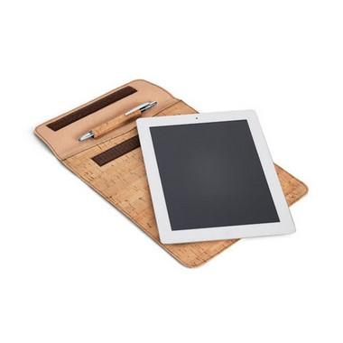 Funda de corcho para tablet PC.