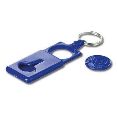 Llavero plástico ABS portamoneda.