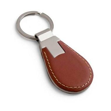 Llavero gota, elegante en marrón.