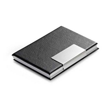 Tarjetero de polipiel y aluminio 3 colores.