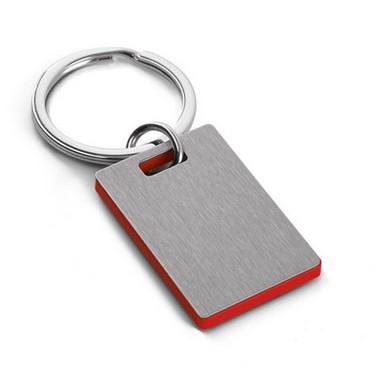 Llavero de acero y ABS rectangular