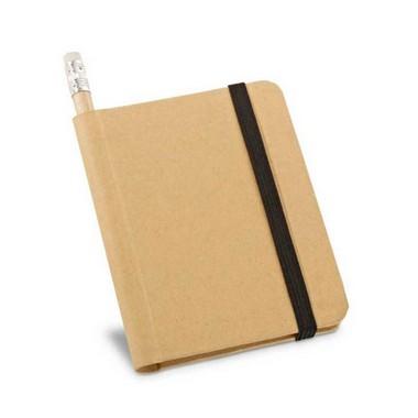 Libreta papel ecológico con lápiz.