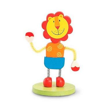 Memo clip madera león.