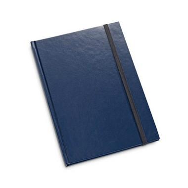 Bloc de notas de tapa rígida y páginas a rayas