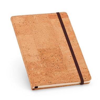 Bloc de notas de corcho con 160 páginas lisas