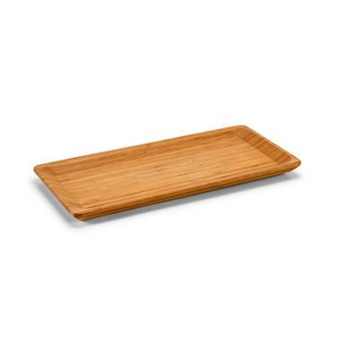 Bandeja bambú pequeña rectangular.