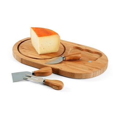 Tabla de quesos ovalada.