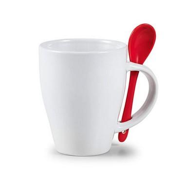 Mug con cuchara de cerámica