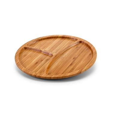 Plato madera de 3 compartimentos.