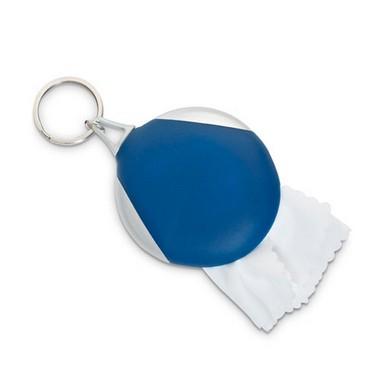Bolso llavero con toallita limpiacristales.