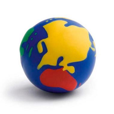 Antiestrés Bola mundo 4 colores.