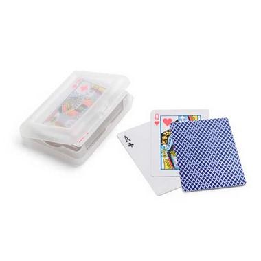 Baraja de 54 cartas en caja de plástico
