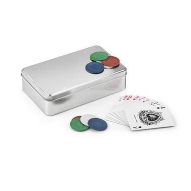 Juego de poker con 2 barajas y 4x25 fichas