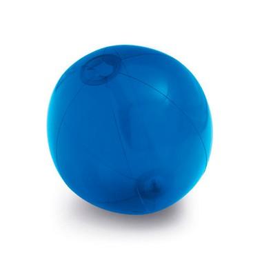 Balón hinchable translúcido.