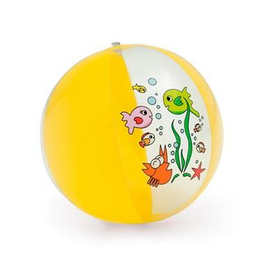 Balón hinchable opaco y dibujos mar.
