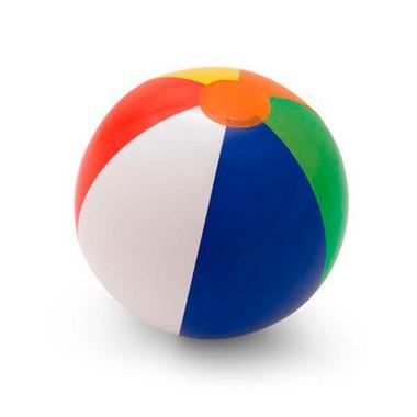 Balón hinchable pvc gajos de colores.
