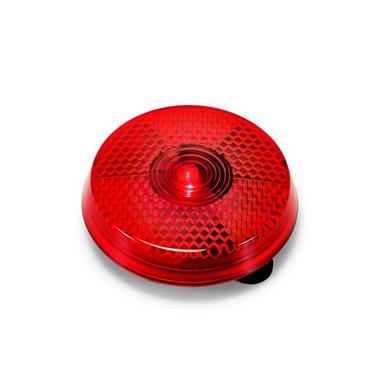 Luz reflectante rojo redondo.