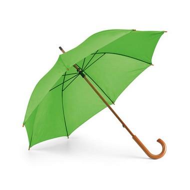 Paraguas 9 colores mango curvo madera.