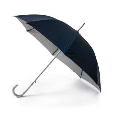 Paraguas clásico negro fondo plata