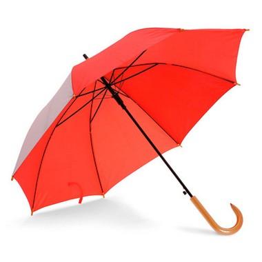 Paraguas automático mango madera.
