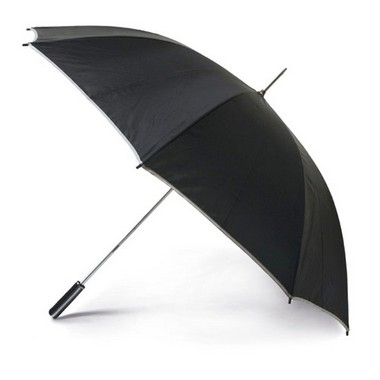 Paraguas de golf negro mango recto EVA