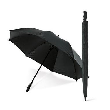 Paraguas de golf negro mango en PP.