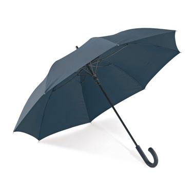 Paraguas mango curvo de goma.