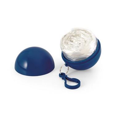 Poncho chubasquero con bola plástico.