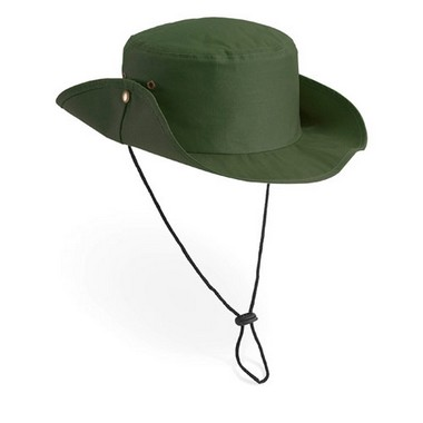 Sombrero safari con cordón ajustable.