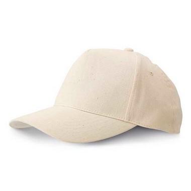 Gorra de béisbol beig ajustable velcro.