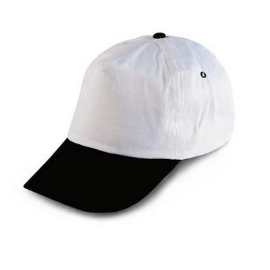 Gorra de béisbol blanca visera color.