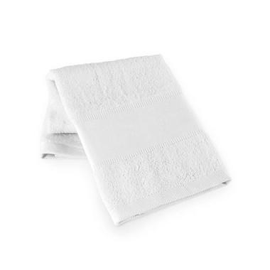 Toalla de gimnasio blanca algodón.
