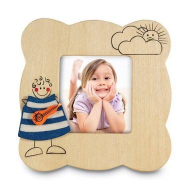 Picto marco de fotos de madera