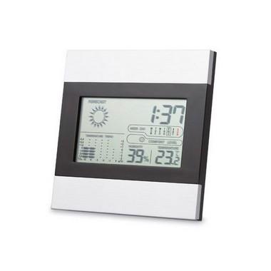 Estación meteorológica con reloj, termómetro y calendario