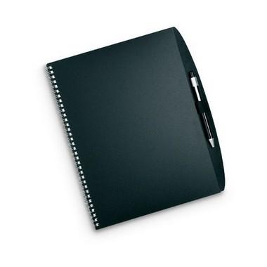 Bloc de notas A4 y bolígrafo