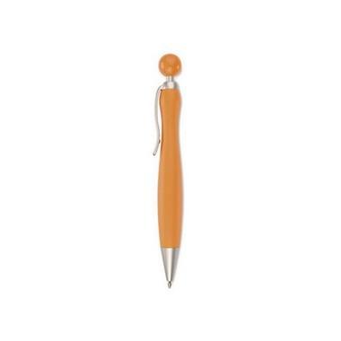 Bolígrafo de plástico con pulsador redondo