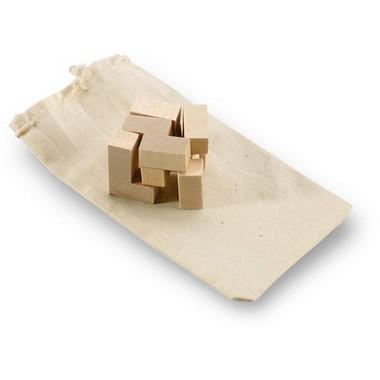 Puzzle de madera en bolsa