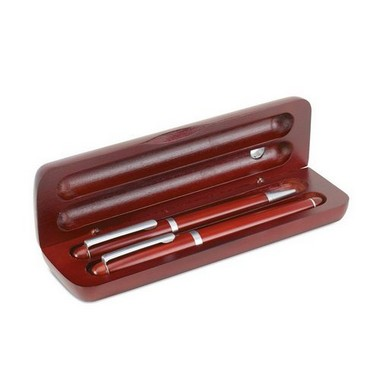 Elegante set de bolígrafo y pluma