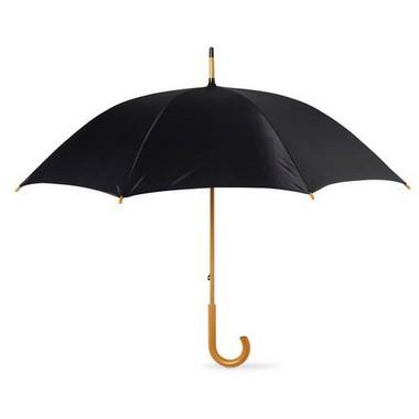 Paraguas con mango de madera