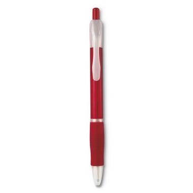 Bolígrafo de plástico con pulsador y tinta negra