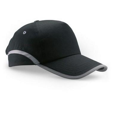 Gorra de béisbol con acabados reflectantes