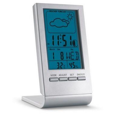 Estación meteorológica con pantalla azul LCD