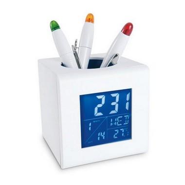 Estación meteorológica con porta bolígrafos