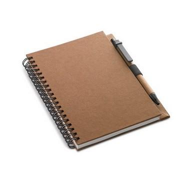 Libreta reciclada y bolígrafo