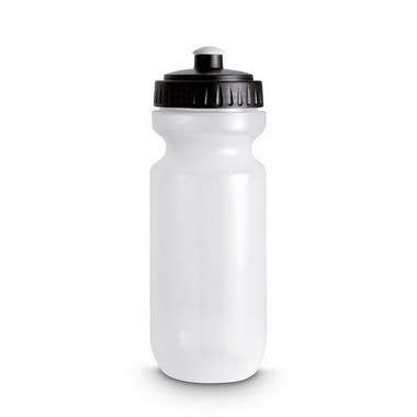 Botella de plástico con tapa coloreada
